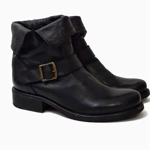 Steve Madden Leather Fold Over Moto Boots 8